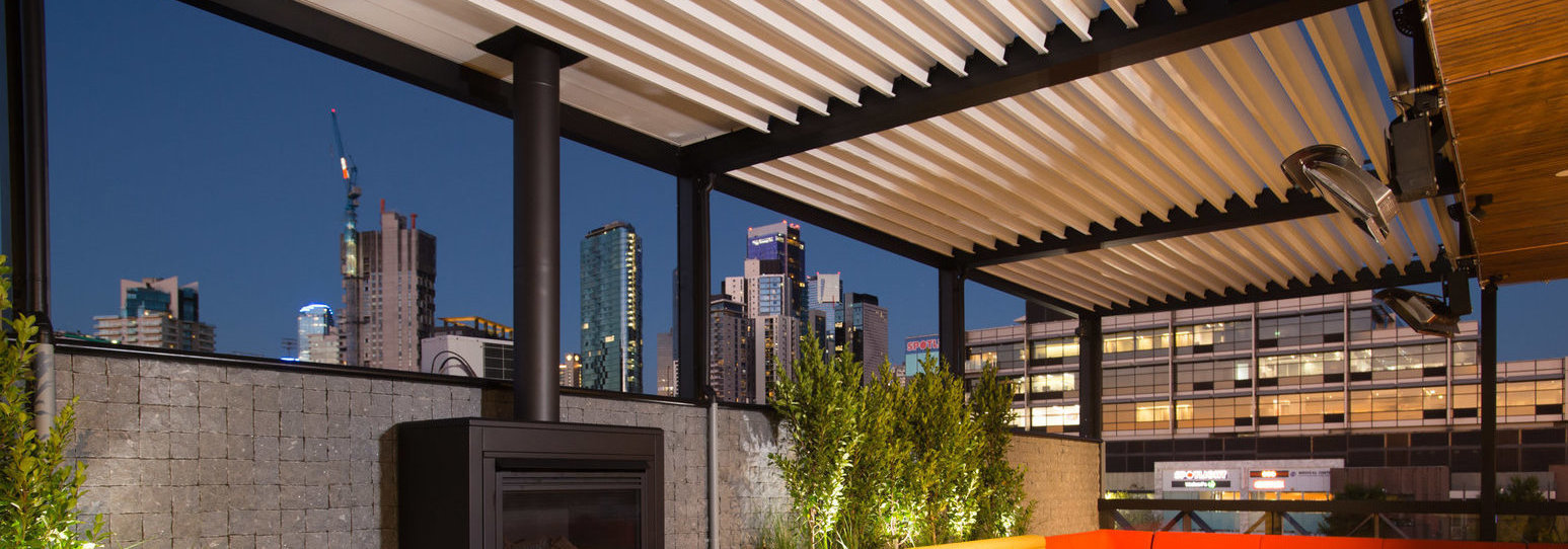 Rooftop fire place